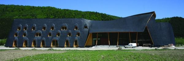 A nemzeti park kreatív formavilágú látogatóközpontja Zernyest határában